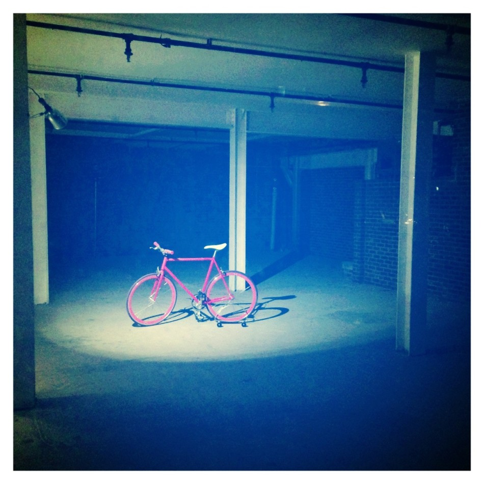 Pink Bicycle All Alone